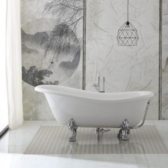 Mobilier de salle de bain vintage: accessoire de style rétro