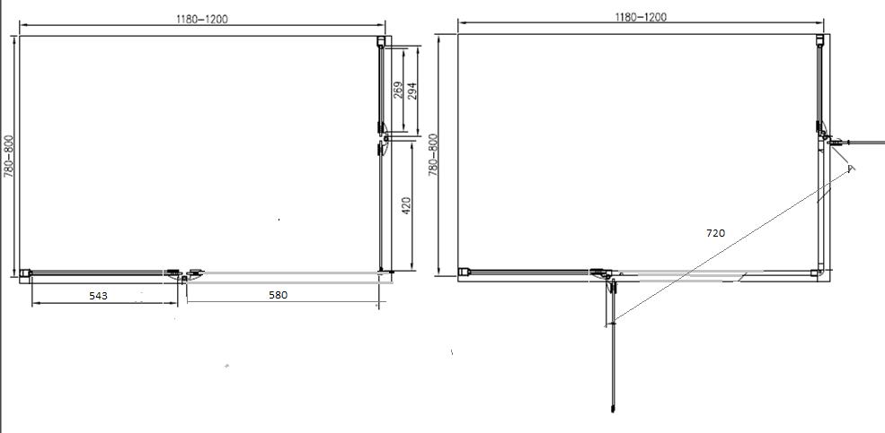 Moderno box doccia 80x120 senza telaio in cristallo 6mm kv store - Box doccia senza telaio ...
